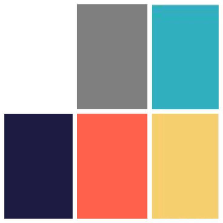 Bedroom: Navy/coral Bathroom: Grey/coral Dining Room: Grey/teal/navy ...