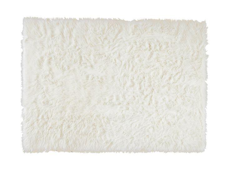 Alfombra blanca pelo largo trendy alfombras blancas de - Alfombra blanca ikea ...