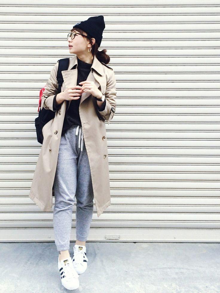 adidasのスニーカーを使ったSIZUさんのコーディネートです。│instagram@rainb...