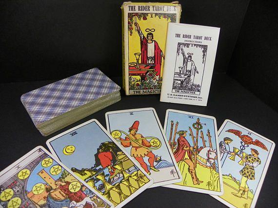 Vintage Rider Tarot Card Deck 1971  FREE SHIPPING