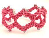Bracciale rosso marsala. macrame, moderno macramè, regalo San Valentino festa, morenamacrame, accessorio per donna, regalo per fidanzata,