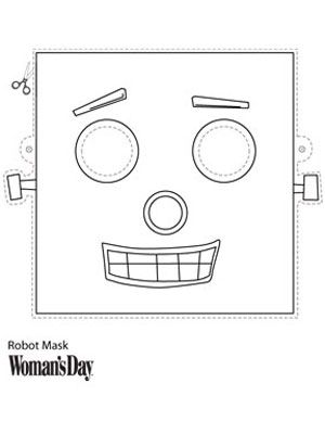 Halloween Crafts- Printable Robot Face Mask at WomansDay.com - Woman's Day