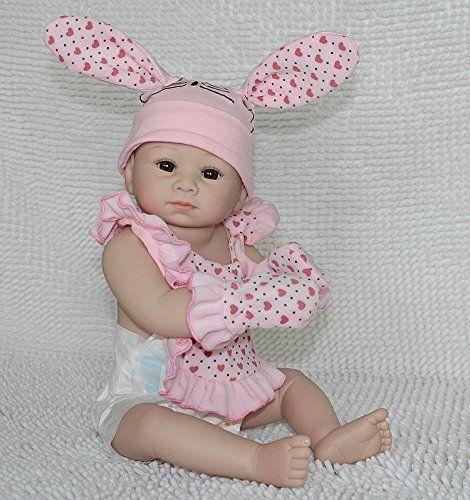 Nicery Dura Del Silicone Bambola Reborn Bambino 20inch 50 Centimetri Magnetica Bella Realistica Cute Ragazza Giocattolo Rosa Rabbit Baby Doll A3IT