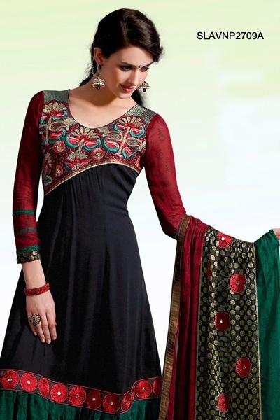 $109 Resham Marvel Georgette Salwar Suit From Cbazaar
