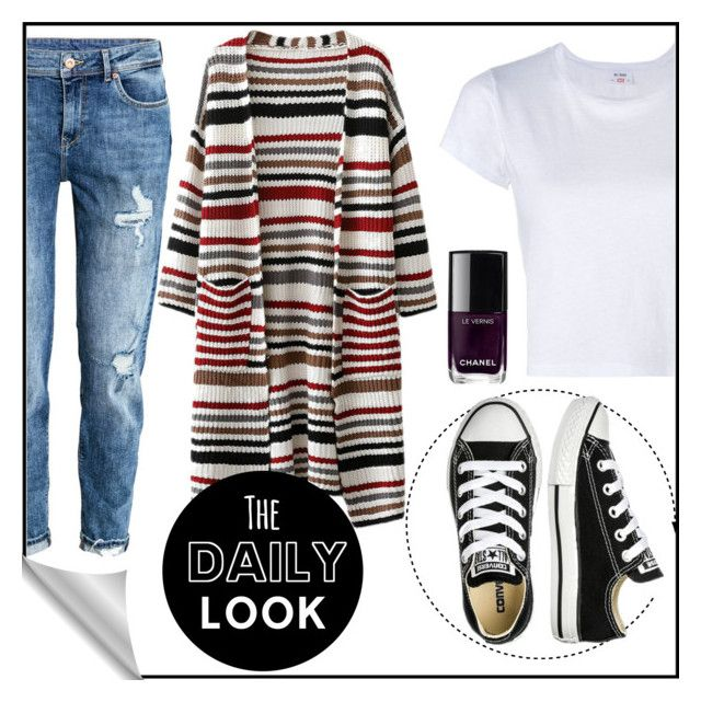 """Untitled #11"" by siggan22 on Polyvore featuring H&M, RE/DONE, Converse and Chanel"