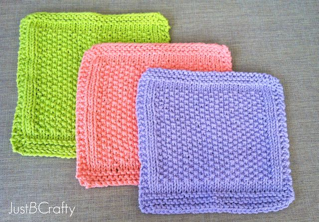 Knitting Dishcloth For Beginners : Seed stitch dishcloths i love patterns that can figure