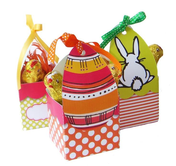 Happy Easter. De magnifiques boîtes à imprimer et à monter... Sur le superbe blog : http://papier-ciseaux-cailloux.blogspot.fr