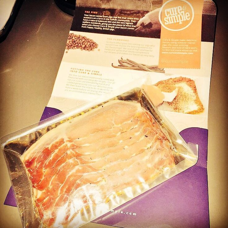 Finding Cure and Simple #bacon in the fridge, WIN! #FridayFeeling #foodie www.cureandsimple.com