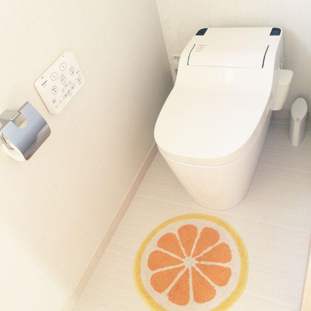rumiさんの、バス/トイレ,IKEA,夏,パナソニック,トイレマット,しまむら,トイレットペーパーホルダー,アラウーノ,のお部屋写真