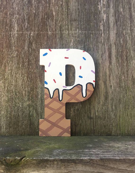 Ice cream Letters ice cream party ice cream cone ice cream