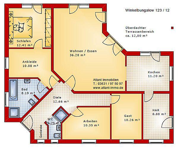 Winkelbungalow grundriss 4 zimmer in 2020 Grundriss bungalow