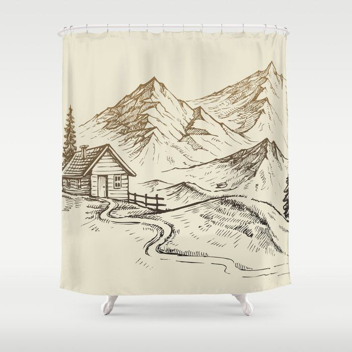 Become A Proud Owner Of A Trendy Shower Curtain Adorned With A