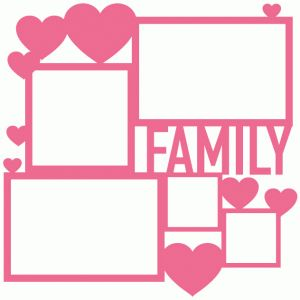 Silhouette Design Store - View Design #61044: family collage frame page mat