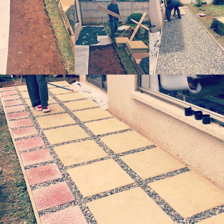 terraza fcil de realizar materiales mts de gravilla chancada pastelones de piedra