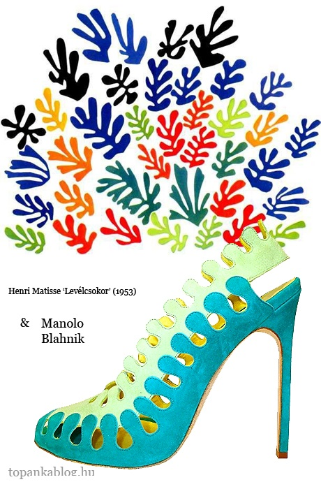 Painting by Henri Matisse, shoes by Manolo Blahnik