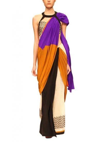 Celandia Saree by Sougat Paul   strandofsilk.com   Indian Designers   Designer Sarees