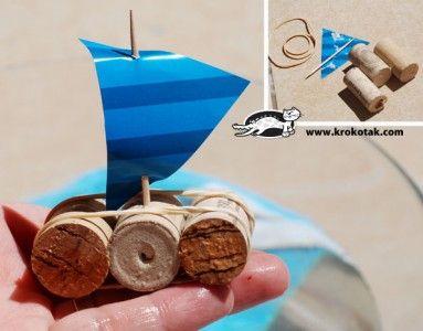 Лодка от коркови тапи - Направи с мама - Първите седем