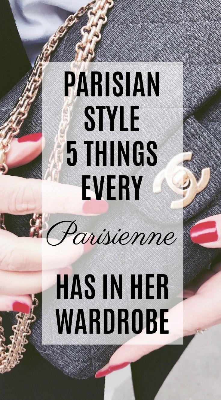 Parisian style | 5 fashion things every parisian has in her wardrobe