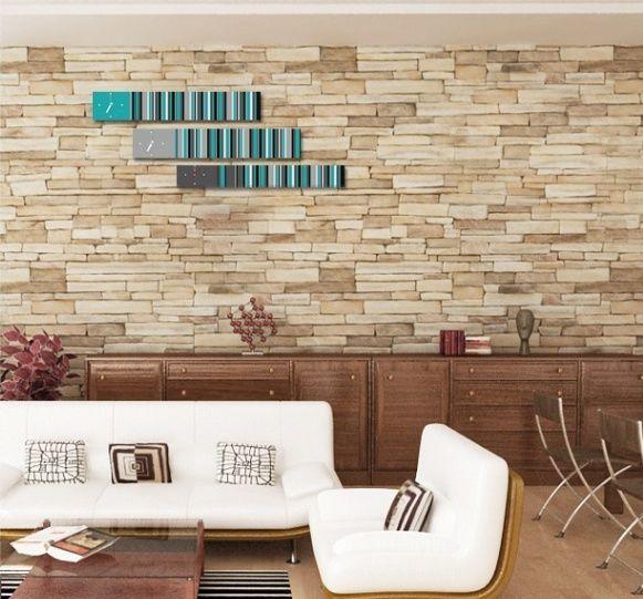 Interior Wall Stripe Home Decor, Modern Luxury 3pcs Framed Wall Art   #LEMONART #ArtDeco