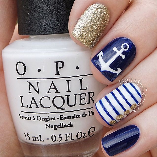25 best ideas about nautical nail designs on pinterest