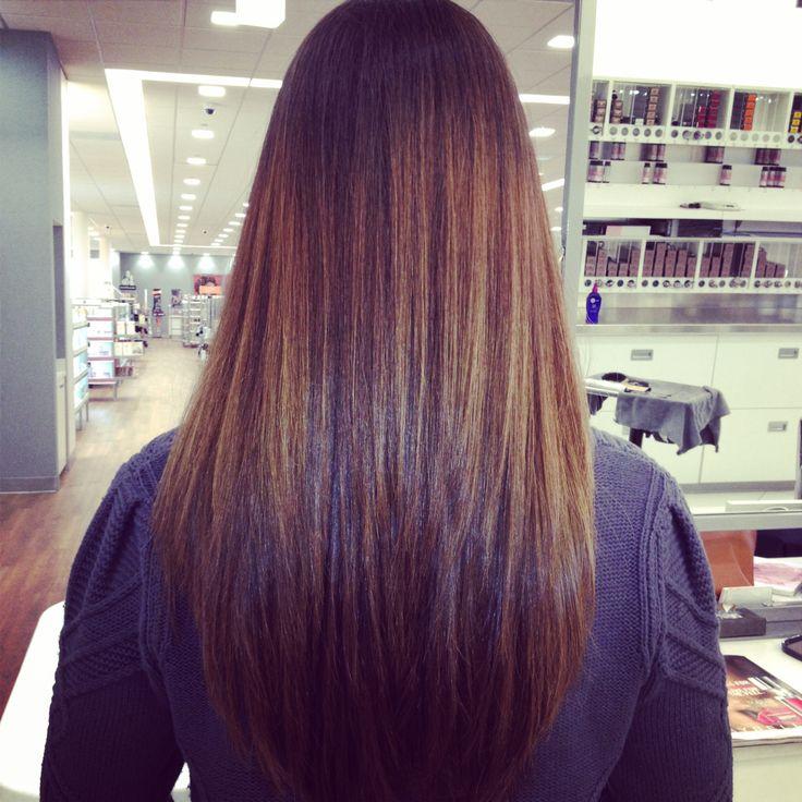 #Balayage #long layer hair cut.