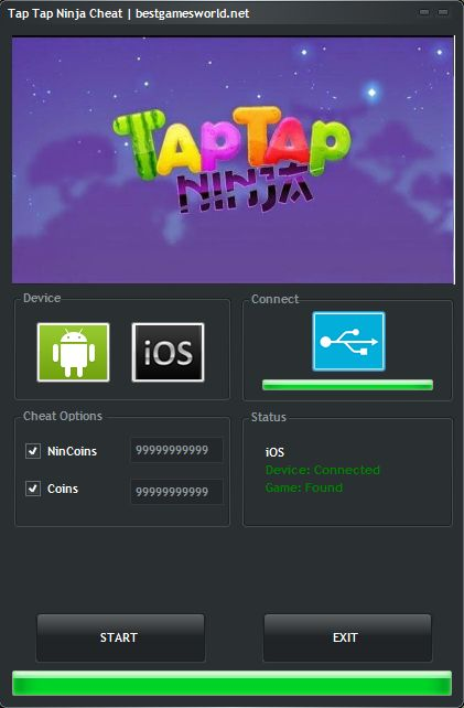 Tap Tap Ninja Hack Cheat Tool