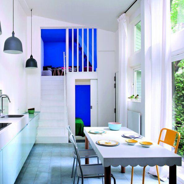 79 best BLEU images on Pinterest Blue walls, Wall paint colors and - ajouter une piece a sa maison