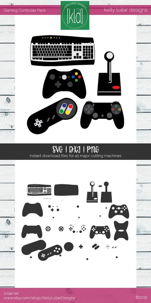 Gaming Controller Pack - video game controllers - 6 type of gaming controllers including keyboard  #gamingcontrollers #gamersvg #controllersvg