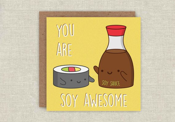 This card that tells it like it is. | 23 Delicious Little Things For Sushi Lovers