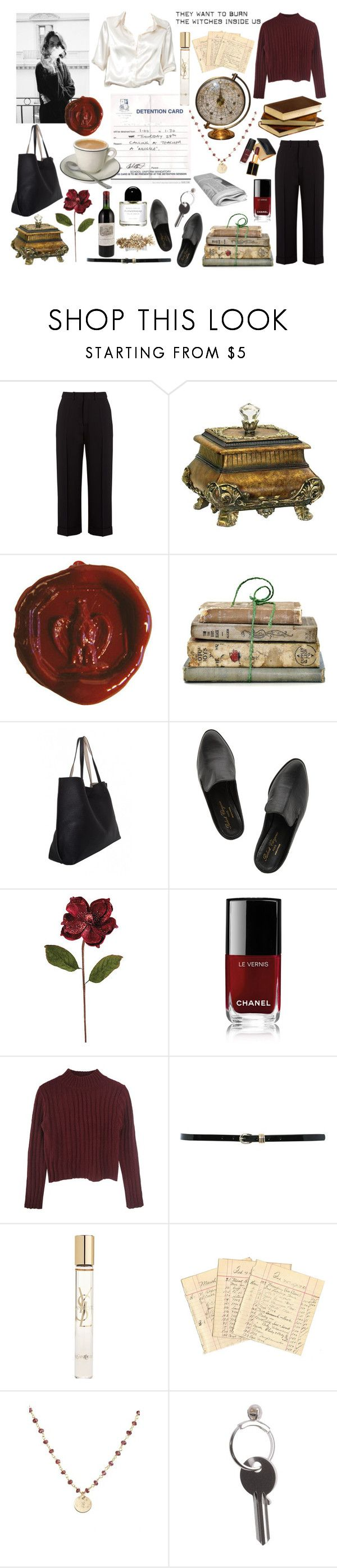 """""""have a biscuit, potter ~ minerva mcgonnagal"""" by fizz-fics ❤ liked on Polyvore featuring Chloé, Sterling, Shabby Chic, Robert Clergerie, Frontgate, Chanel, M&Co, Yves Saint Laurent, Hermès and Nashelle"""