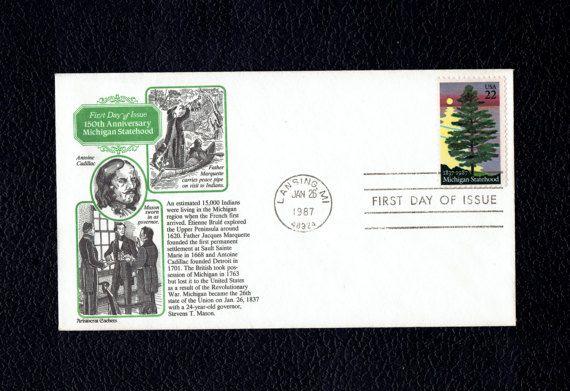 Michigan Statehood Jan 26 1987 Lansing MI First Day Cover  Scott's US 2246 FDC  Aristocrat Cachet Bu