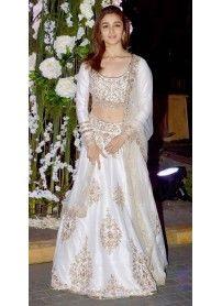 Latest Arrival Designer White Lehenga Choli By Kmozi..  http://www.kmozi.com/bollywood-replica/online-shopping-bollywood-actress-lehenga-choli/latest-arrival-designer-white-lehenga-choli-by-kmozi-1291