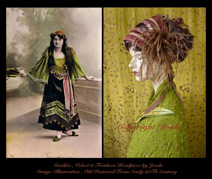 1920s Headpiece,1920s Feather Headpiece,Feather Headband,Feather Headdress,Flapper Headband,Burgundy Feather Headband,Burlesque Headpiece by Jevda on Etsy