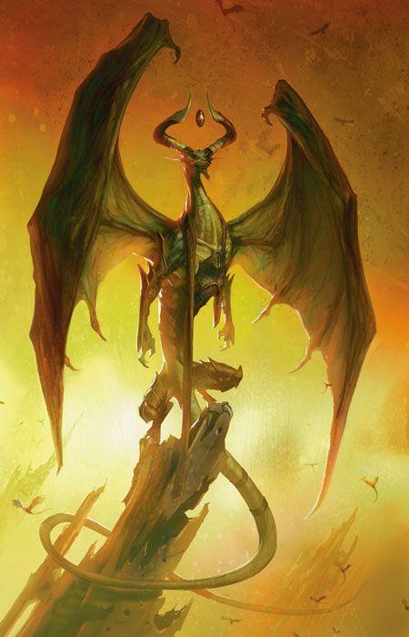 Nicol Bolas, dragon planeswalker from magic: the gathering