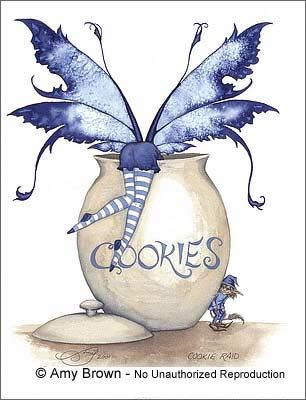 ..Now that is my kind of fairy... bottoms up for COOKIES!!