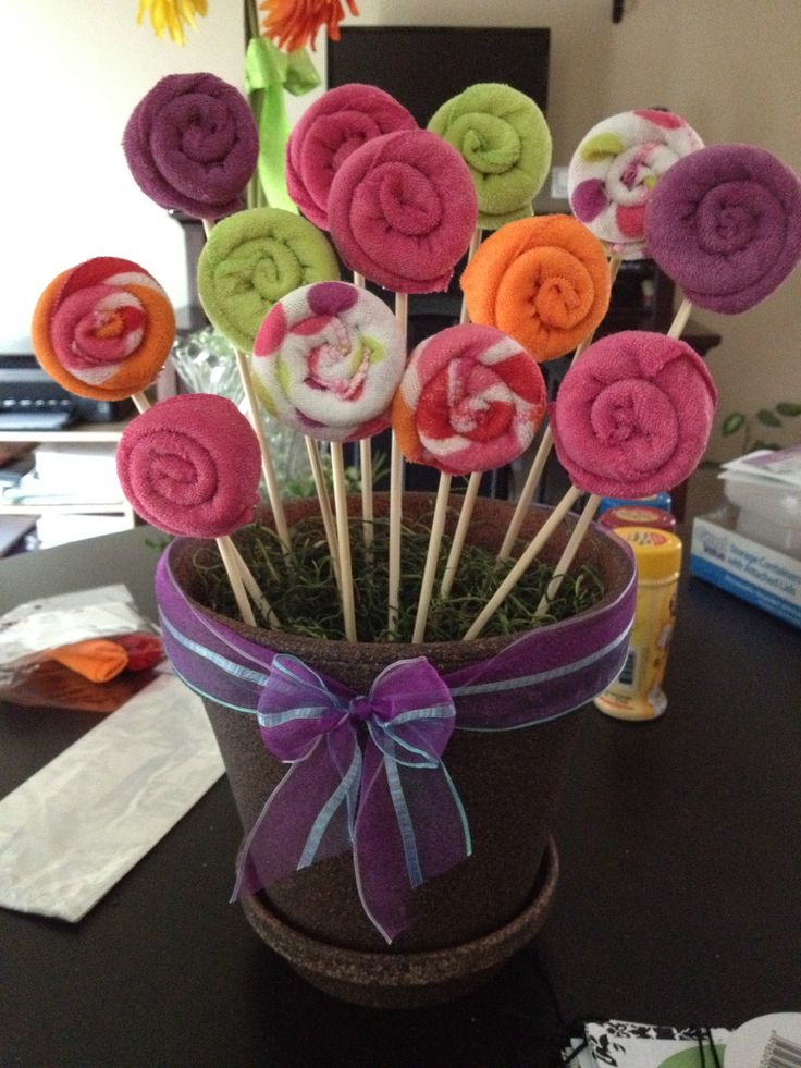 Wash Cloth Bouquet For Baby Shower Decor By Me Party