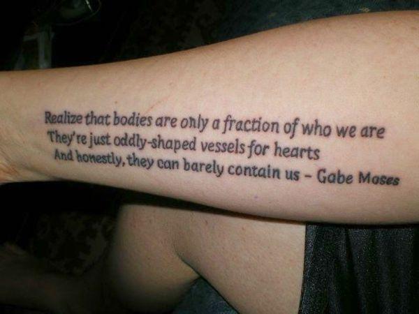 Männer unterarm sprüche tattoos Tattoo Ideen
