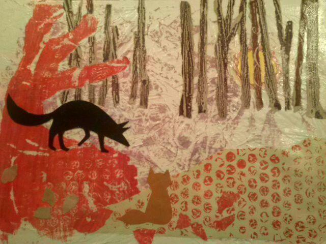 illustration the hidden fox