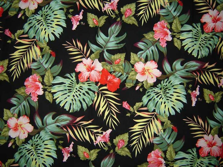 Hawaiian Prints Kona-rainforest-hawaiian-
