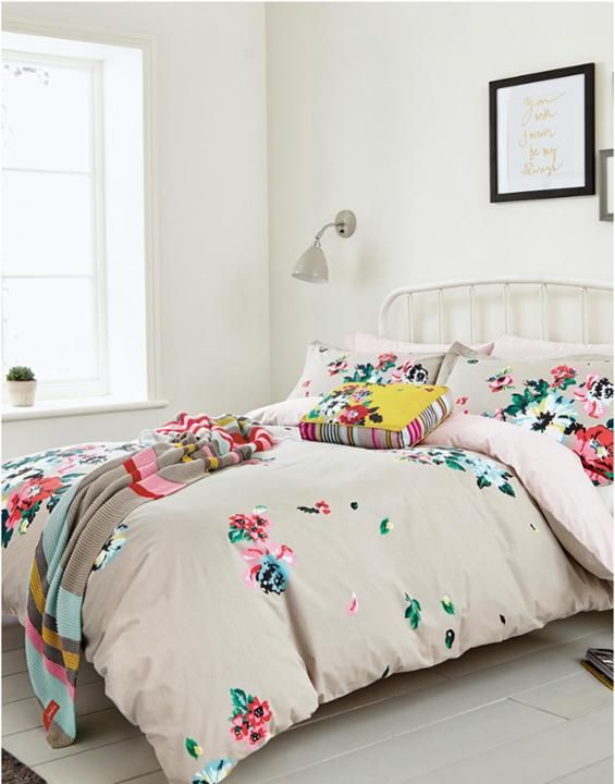 light grey floral duvetgryfloral devito floral duvet cover joules uk home spaces pinterest. Black Bedroom Furniture Sets. Home Design Ideas