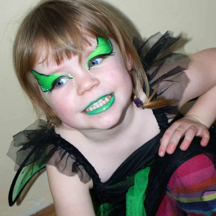 green bat face paint snazaroo facepainting - Halloween Face Painting For Girls