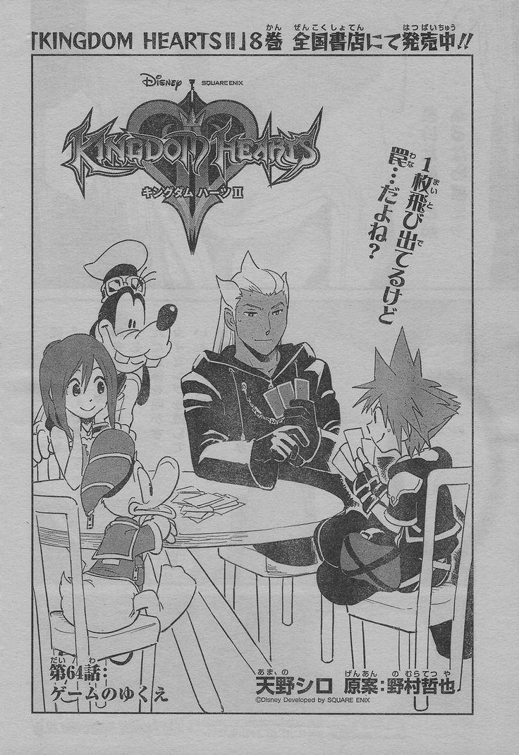 "KH2 manga chapter 64 raws aka ""Luxord and Saix are cheating cheaters who cheat"" Kingdom hearts"