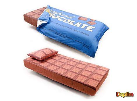 Acolchado chocolate No es genial este acolchado y sábanas con un estilo chocolate? hasta te dan ganas de morderlo! jajajj