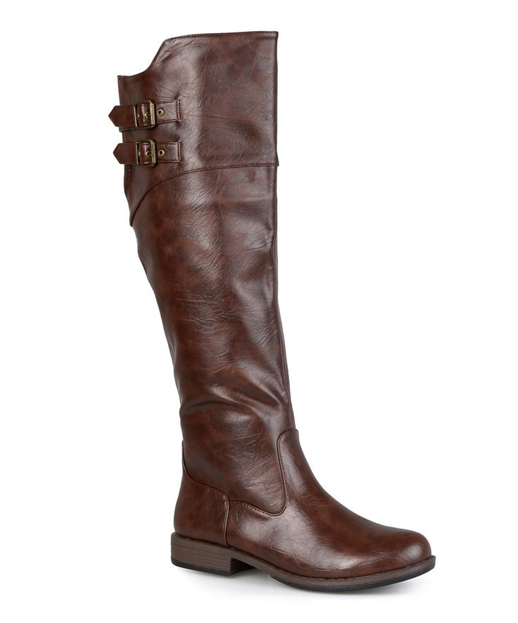 journee collection brown wide calf boot