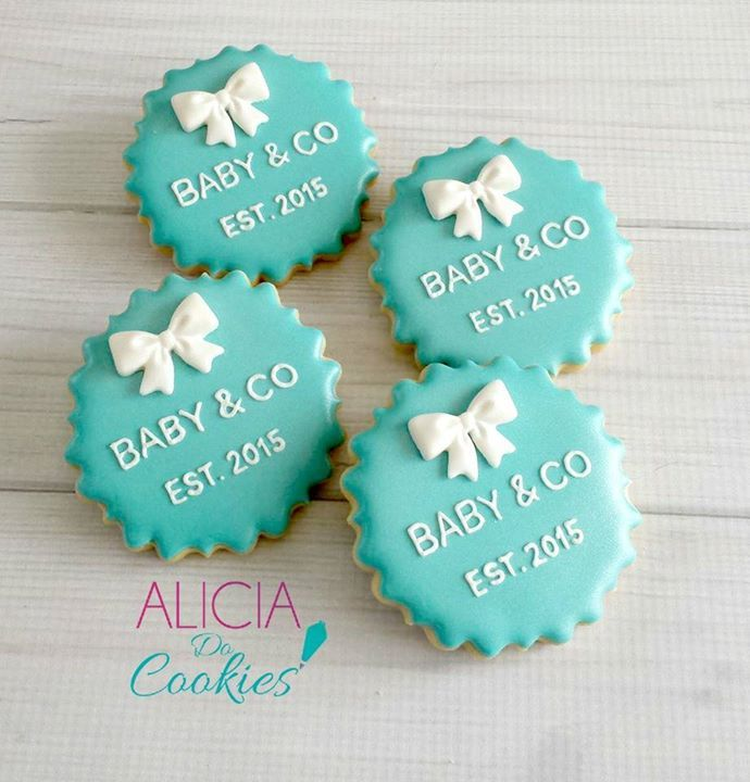 Tiffany Baby Shower Cookies