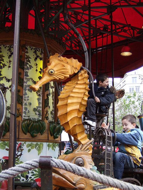 Seahorse ~ Merry-Go-Round carousel, Brussels Christmas Markets 2009 by Rob Lightbody, via Flickr