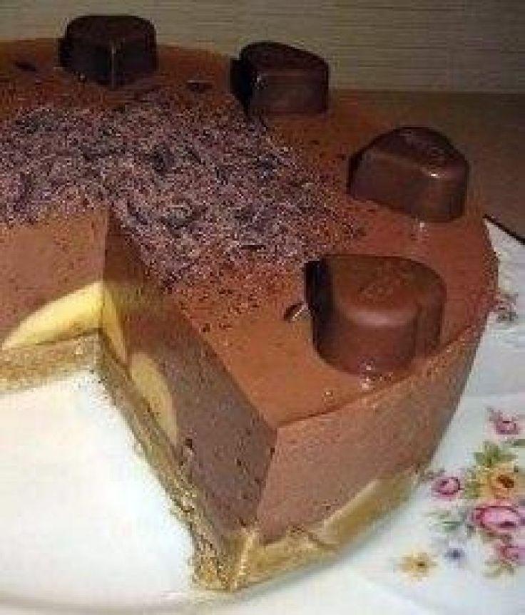Шоколадно-банановый торт (без выпечки) | Самые вкусные кулинарные рецепты