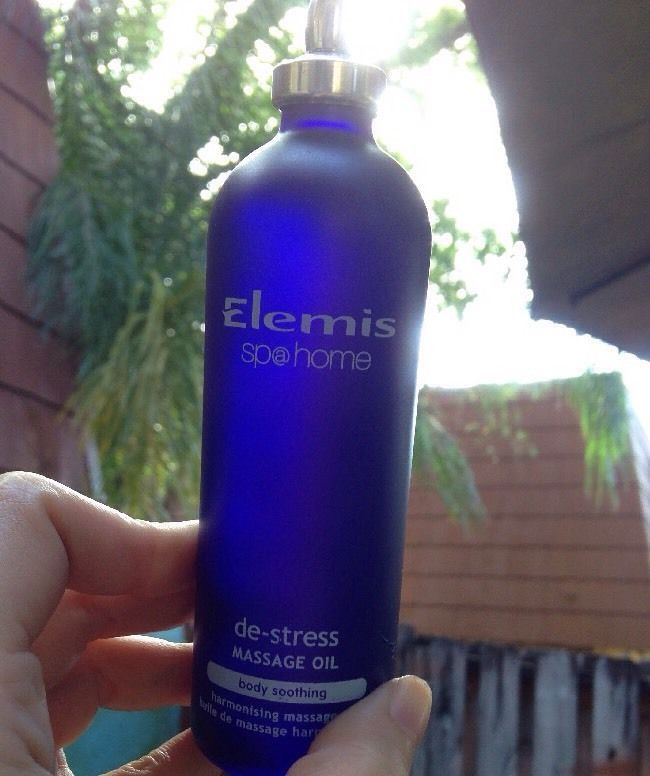 Elemis Spa At Home De-Stress Massage Oil 100 ml 3.4 fl. oz Body Soothing Full Sz #Elemis