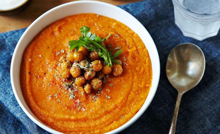 ... carrots soups crispy chickpeas clementine daily carrot soup lentils