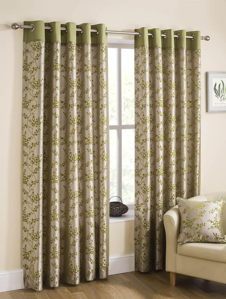 Ordinary Good Quality Curtains Uk Part - 11: Take A Look At Our Blossom Ready Made Lined Eyelet Curtains Lime, Great  Quality And Affordable Prices At Terrys Fabrics